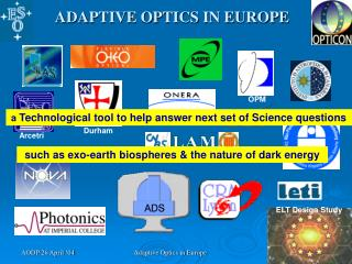 ADAPTIVE OPTICS IN EUROPE