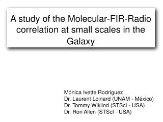 A study of the Molecular-FIR-Radio correlation at small scales in the Galaxy