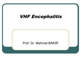 VHF Encephalitis