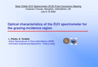 Optical characteristics of the EUV spectrometer for the grazing-incidence region