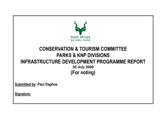 CONSERVATION & TOURISM COMMITTEE  PARKS & KNP DIVISIONS