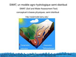 SWAT, un mod�le agro-hydrologique semi-distribu�