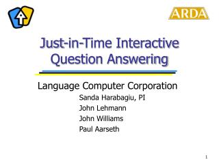 Just-in-Time Interactive Question Answering