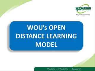 WOU�s OPEN DISTANCE LEARNING MODEL