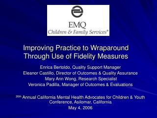 Improving Practice to Wraparound Through Use of Fidelity Measures