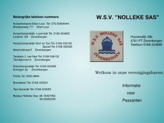"W.S.V. ""NOLLEKE SAS"""
