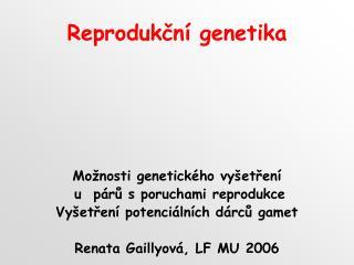 Reprodukční genetika