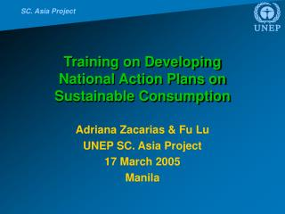Training on Developing  National Action Plans on Sustainable Consumption