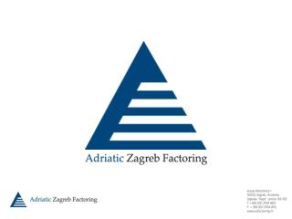 1. POVIJEST ADRIATIC ZAGREB FACTORING