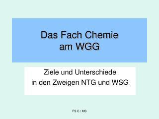 Das Fach Chemie am WGG
