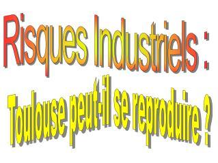 Risques Industriels :