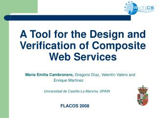 A Tool for the Design and Verification of Composite Web  Services
