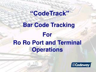 Bar Code Tracking
