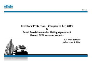 IC ICSI WIRC Seminar  Indore – Jan 4, 2014