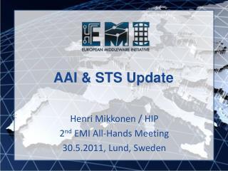 AAI & STS Update