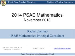 2014 PSAE Mathematics  November 2013