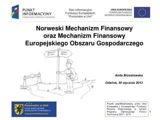 Norweski Mechanizm Finansowy  oraz Mechanizm Finansowy Europejskiego Obszaru Gospodarczego