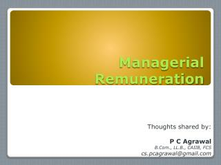 Managerial Remuneration