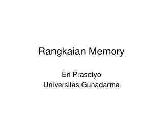 Rangkaian Memory
