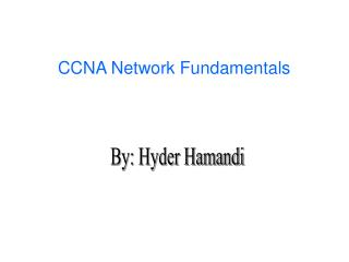 CCNA Network Fundamentals