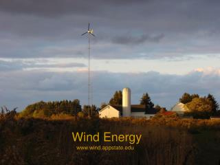 Wind Energy    wind.appstate