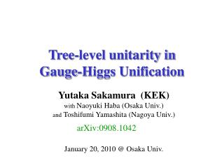 Tree-level unitarity in  Gauge-Higgs Unification