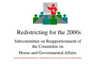 Redistricting for the 2000s
