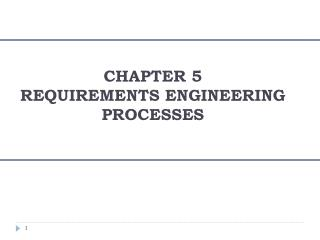 CHAPTER 5 REQUIREMENTS ENGINEERING PROCESSES