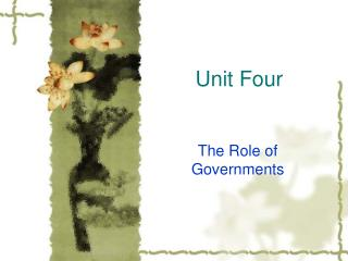Unit Four