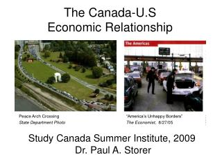 The Canada-U.S  Economic Relationship