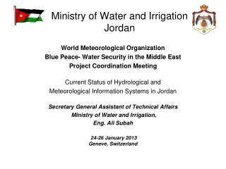 Ministry of Water and Irrigation Jordan