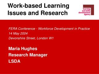 Work-based Learning Issues and Research