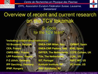Overview of recent and current research on the TCV  tokamak