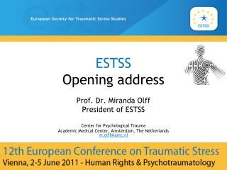 ESTSS  Opening address