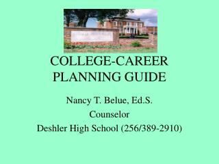COLLEGE-CAREER PLANNING GUIDE