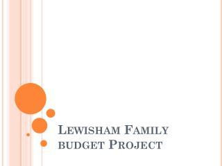 Lewisham Family  budget Project