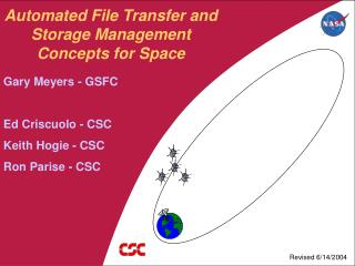Automated File Transfer and Storage Management Concepts for Space