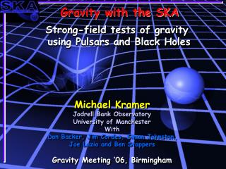 Gravity with the SKA