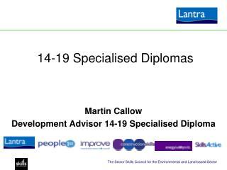 14-19 Specialised Diplomas