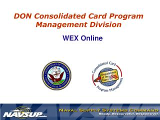 DON Consolidated Card Program Management Division