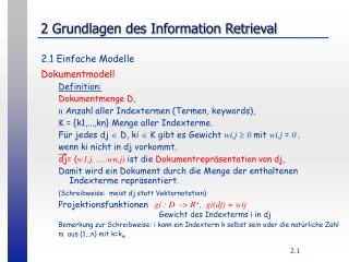 2 Grundlagen des Information Retrieval