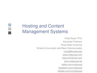 Hosting and Content Management Systems