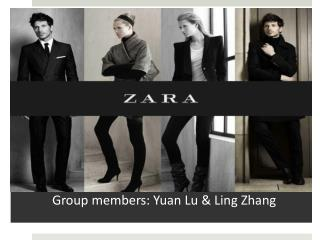 Group members: Yuan Lu & Ling Zhang