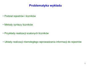 Problematyka wykładu