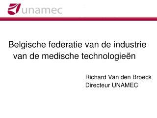Belgische federatie van de industrie    van de medische technologieën