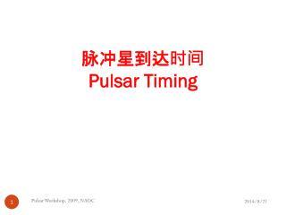 脉冲星到达时间 Pulsar Timing