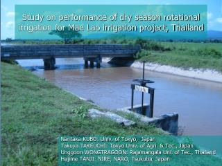 Study on performance of dry season rotational irrigation for Mae Lao irrigation project, Thailand