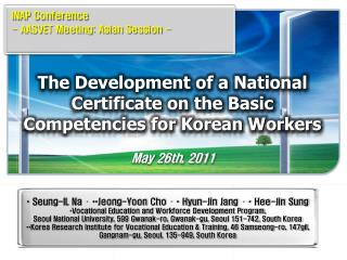 The Development of a National Certificate on the Basic Competencies for Korean Workers