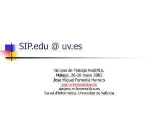 SIP @ uv.es