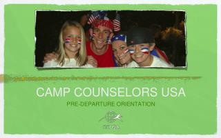 CAMP COUNSELORS USA